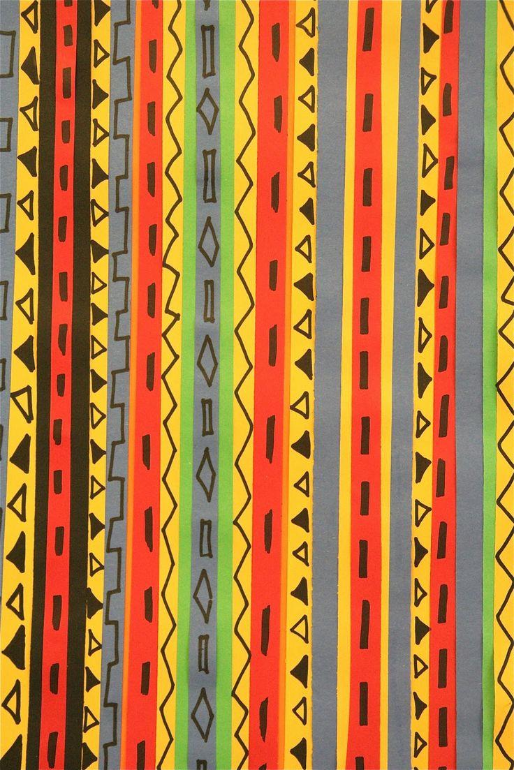 Splish Splash Splatter, Kente Colors (Kente cloth lesson) Paper Strips
