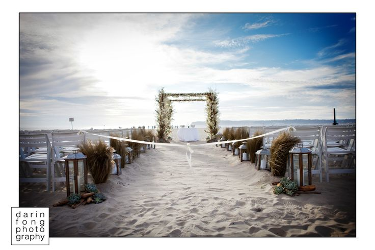 Beach wedding. Darin Fong Photography