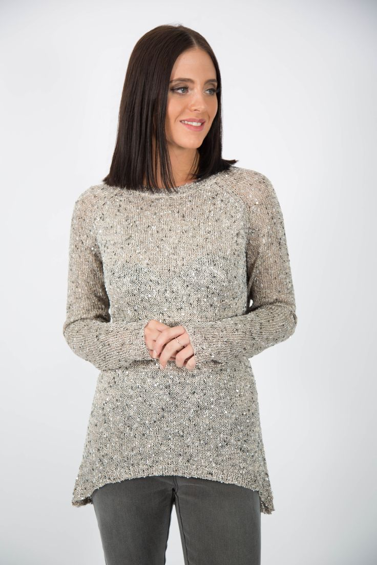 Ice Express Gold Sequin High Lo Jumper. https://goo.gl/iWnzXU