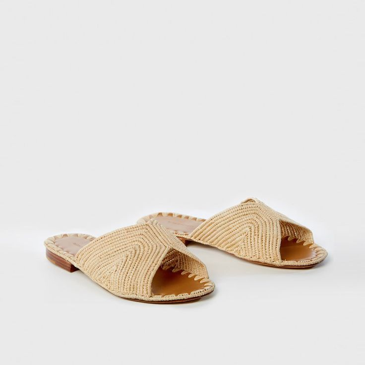 Carrie Forbes brings modern, naturalistic elements to this traditional  Moroccan slide sandal with the Salon