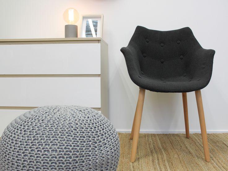 Aviator Bucket Chair - Charcoal