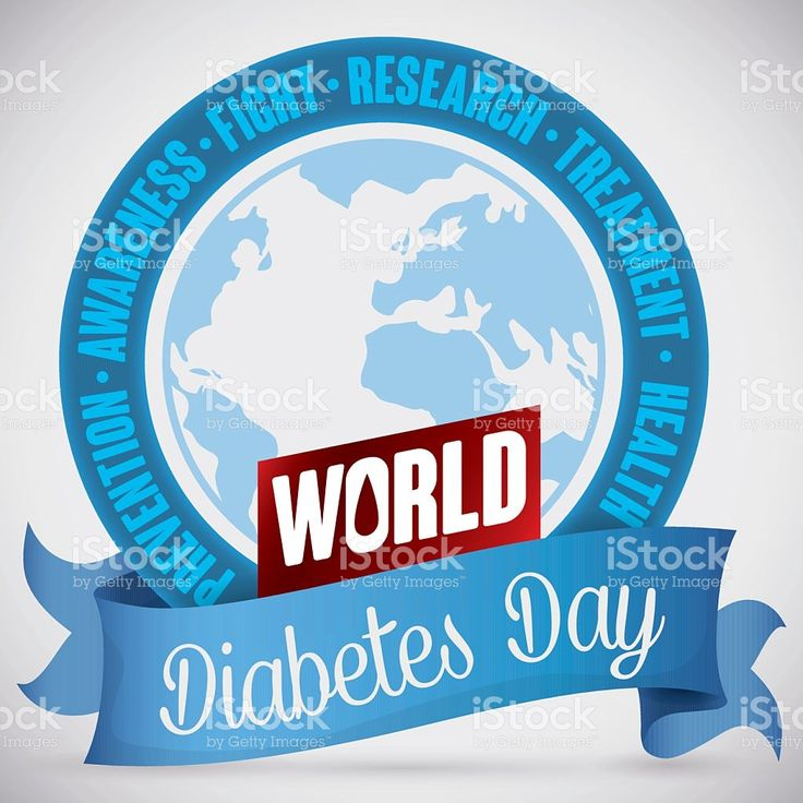 Commemorative Round Button for World Diabetes Day