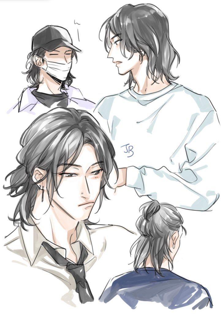 Yorui On Twitter Anime Boy Long Hair Long Hair Drawing Hair Illustration