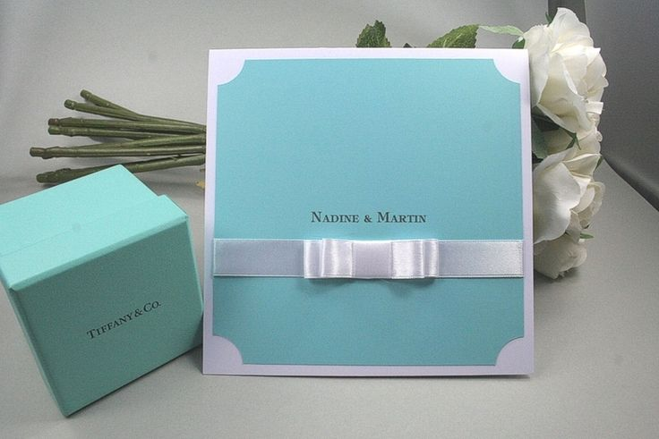 "Einladung-Pocketfold ""Tiffany"" (S803) von Mary Poppins auf DaWanda.com"