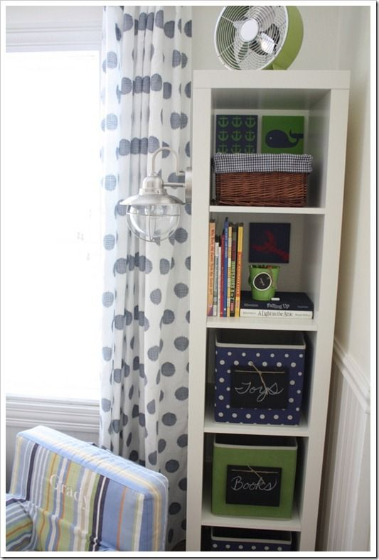 Adding these curtains and this shelf to my IKEA list.