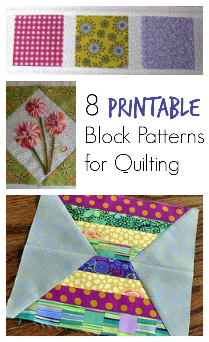 166 best creative quilts images on pinterest quilt block patterns patterns for quilting 8 free quilt block patterns to make a quilt for your fandeluxe Image collections