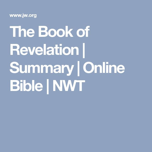 The Book of Revelation | Summary | Online Bible | NWT