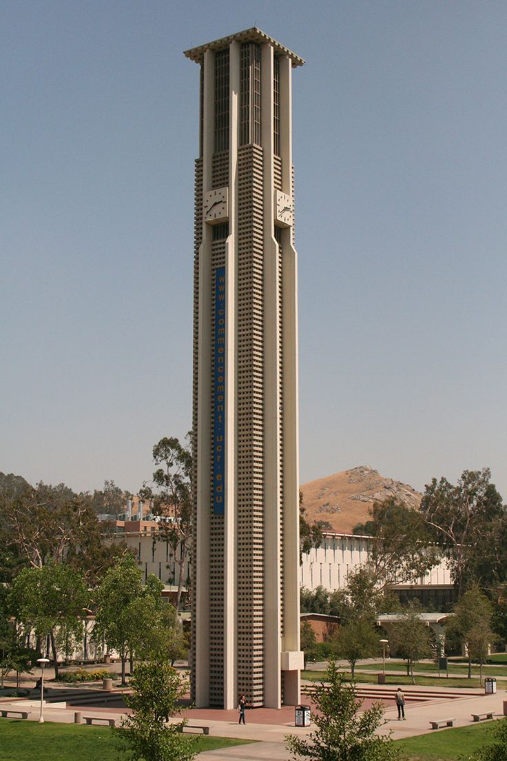 CARILLON BELLS AT THE UNIVERSITY OF CALIFORNIA, RIVERSIDE, CALIFORNIA