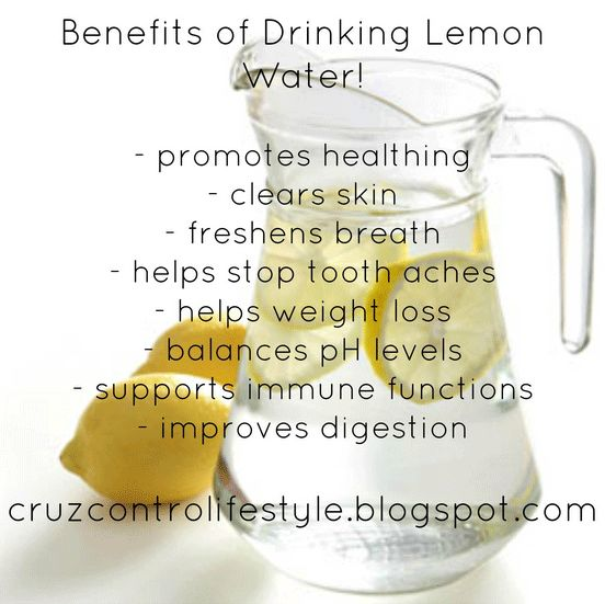 benefits of drinking lemon water and weight loss