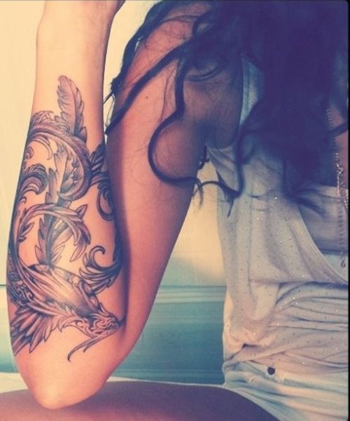 Image result for compass anchor bird tattoo