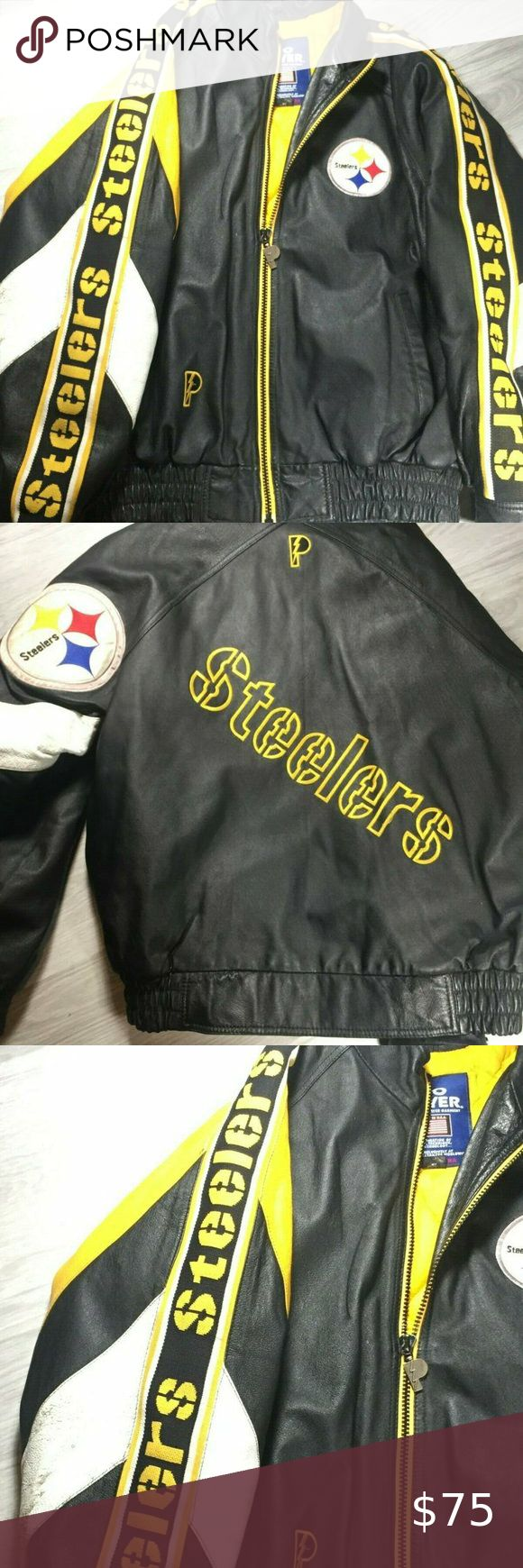 Vtg Pittsburgh Steelers Pro Player Leather Coat in 2020
