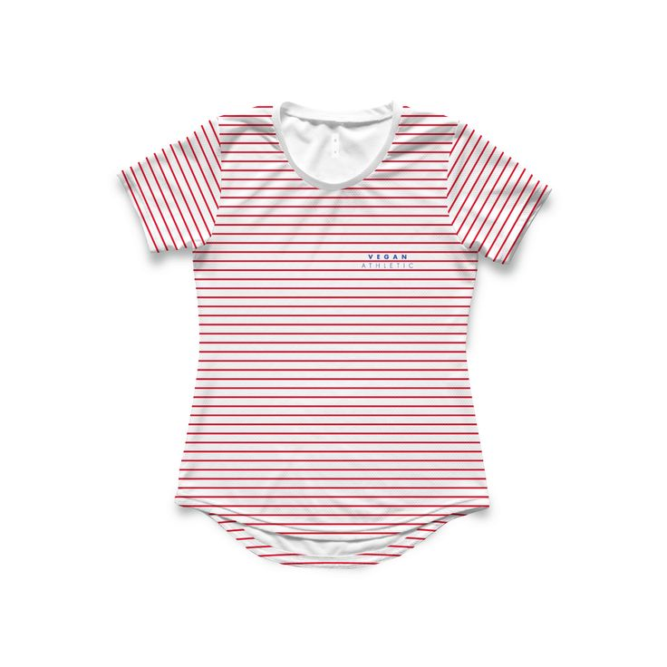 Women's Tech-Tee / Red Pin Stripe