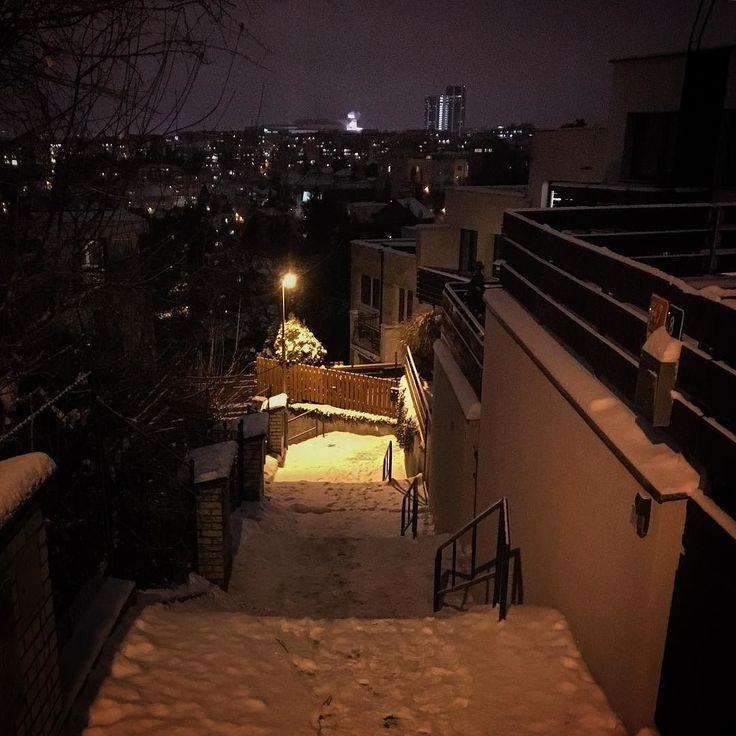 Cesta dolů... #schody #snih #3centimetri