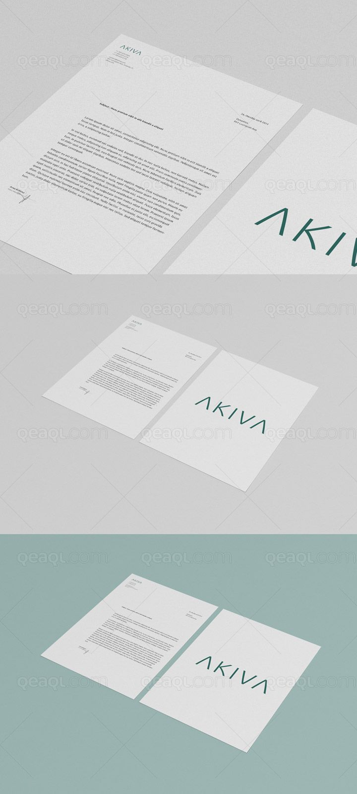 free multipurpose mock up for letterhead flyer and poster the background color is customisable by using smart objects you can change the design very