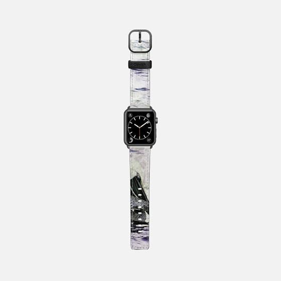 Galapagos pelican violet Apple watch band - Saffiano Leather Watch Band