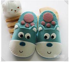 Como Hacer Zapatillas para Niños con Moldes01