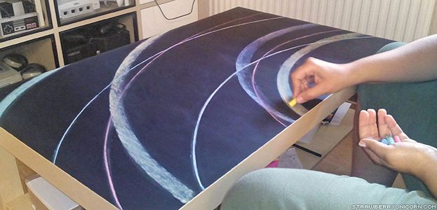 Tutorial – Chalkboard coffee table ikea hack - Strawberry Unicorn
