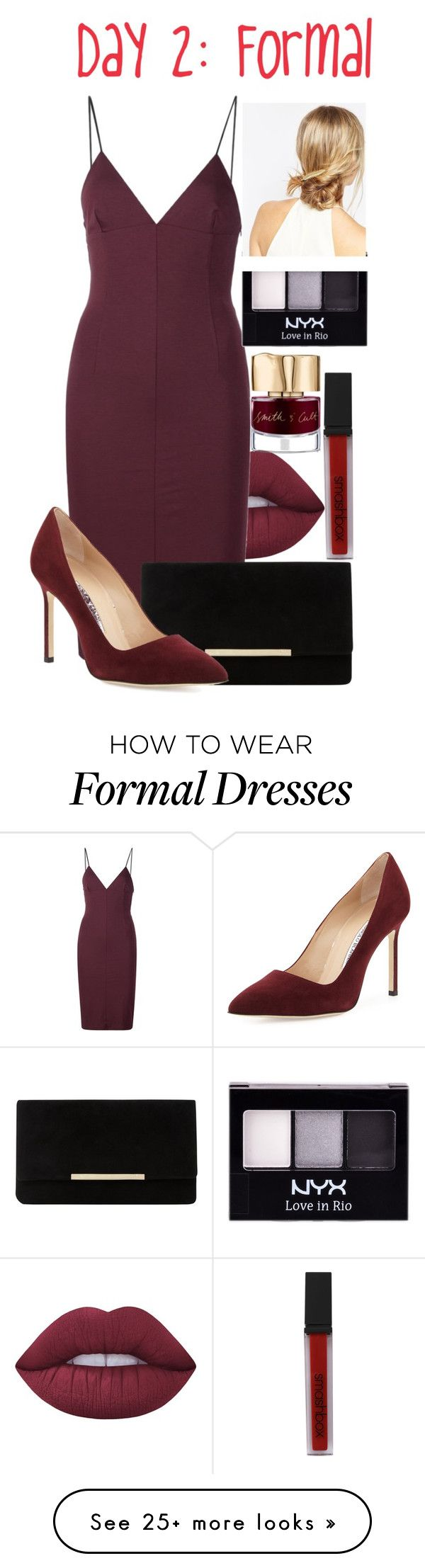 """""""Romance [Day 2: Formal] (Jade 015)"""" by peripri on Polyvore featuring Lime Crime, T By Alexander Wang, Dune, Manolo Blahnik, Smashbox, Smith & Cult, NYX and ASOS"""