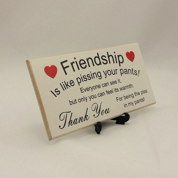 Best Friend Gift Funny Sign Birthday Present By