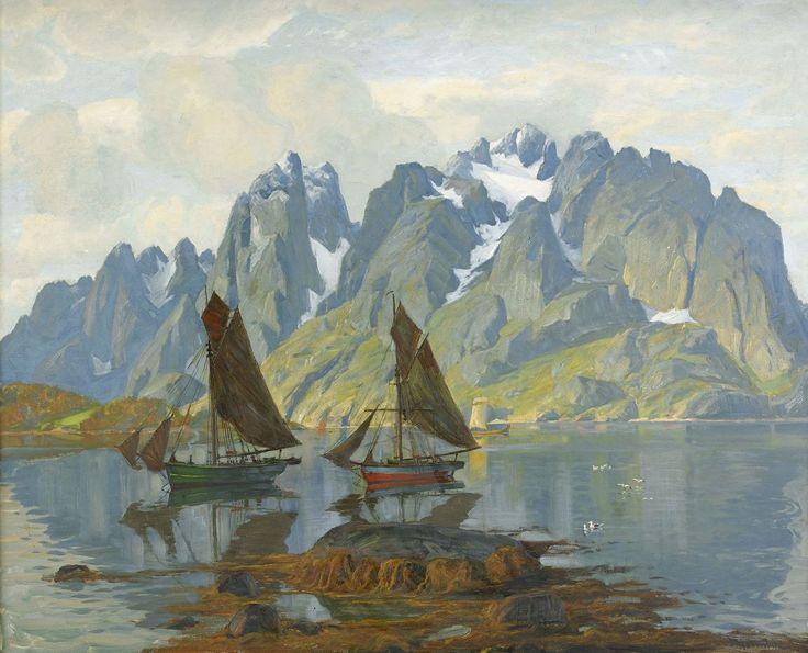 Thorolf Holmboe Norskt fjordlandskap