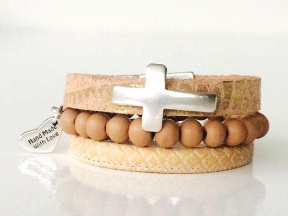 Armbanden set kruis