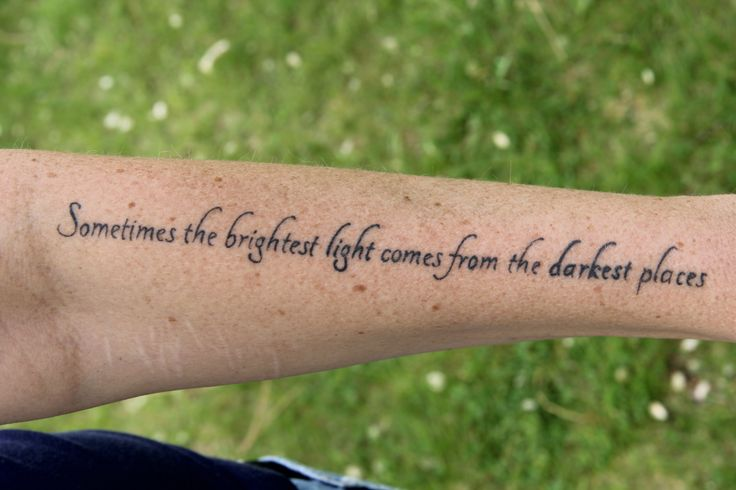 Sometimes the brightest light comes from the darkest places.   #quote #ink #tattoo #beautiful #photography #light #love #life