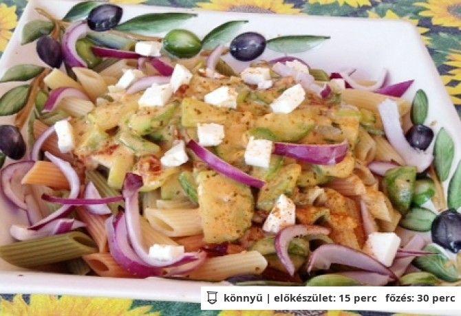 Tejszínes-cukkinis tészta görögösen | NOSALTY – receptek képekkel