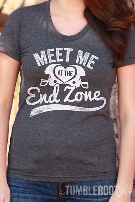 "The PERFECT gameday tee! Our ""Meet Me at the Endzone"" tees are a reason to make Football girlfriends and football wives rejoice!"