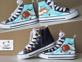 Zapatillas Aviones Disney / Planes custom kicks by Pandagorri