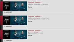 Sherlock seasons 4 air dates: full US and UK TV schedules confirmed