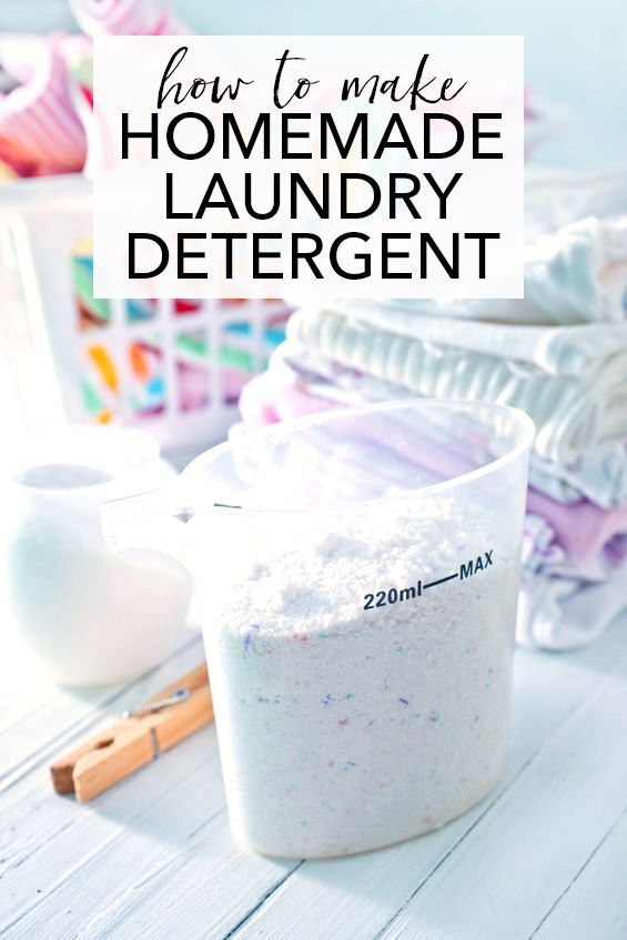 How to make homemade laundry detergent - only pennies per load!