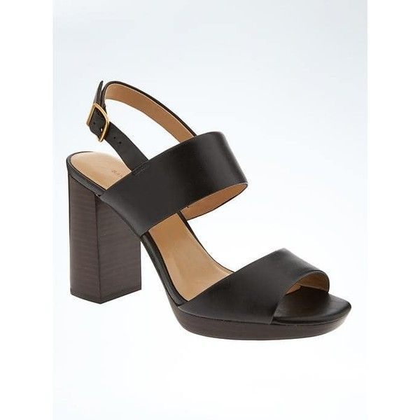 Banana Republic Womens Block Heel Sandal ($90) ❤ liked on Polyvore  featuring shoes,