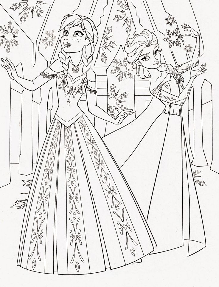 Fun Frozen Coloring Pages Of Characters Including Princess Elsa Kristoff And Anna