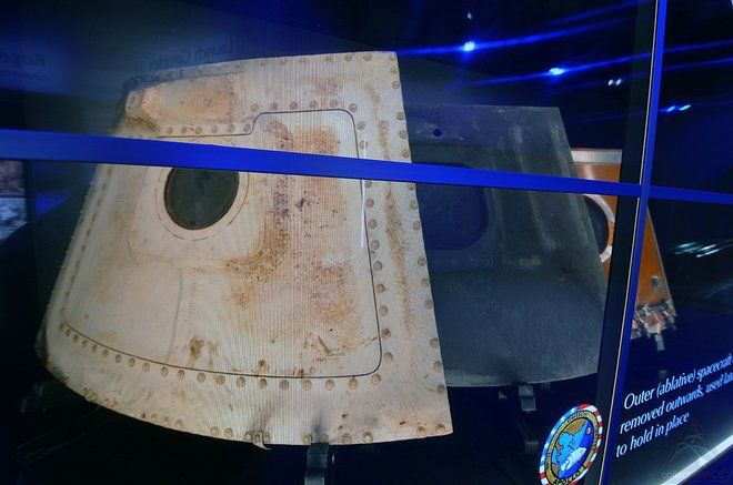 NASA Displays Apollo 1 Command Module Hatches 50 Years After Fatal Fire
