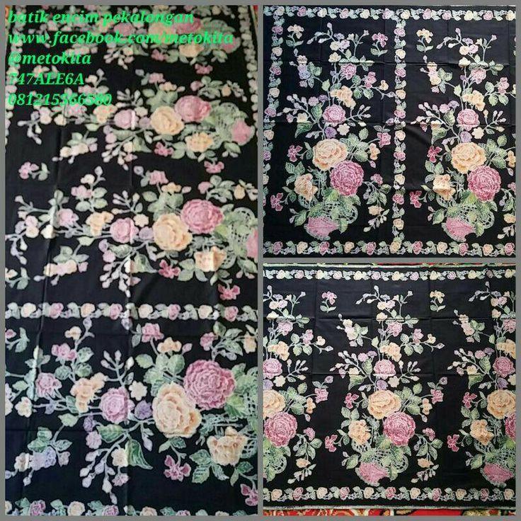 #batik #encim pekalongan, motif buketan mawar, bahan kain katun primis. Visit www.facebook.com/metokita for more