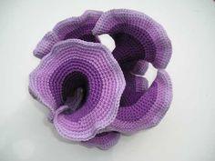 hyperbolic crochet   large symmetric hyperbolic plane by Dr Daina Taimina.