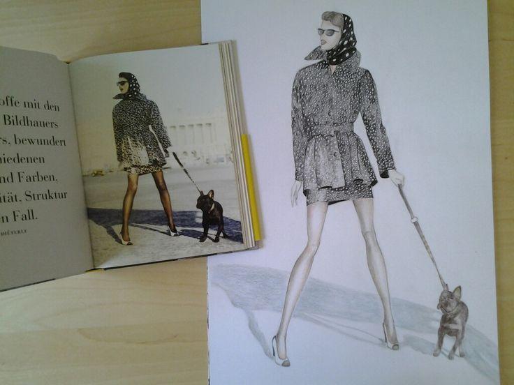 Bildvorlage aus Vogue on, Hubert de Givenchy, gezeichnet von Conny Feller