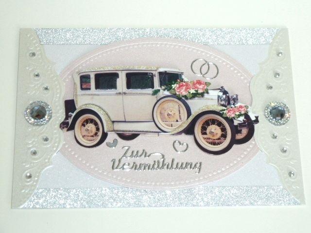 Karte zur Hochzeit Nr. 416 von *M&M Bastelparadies* auf DaWanda.com