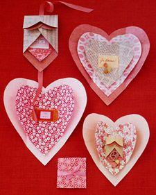 Cute valentine wrap from Martha Stewart