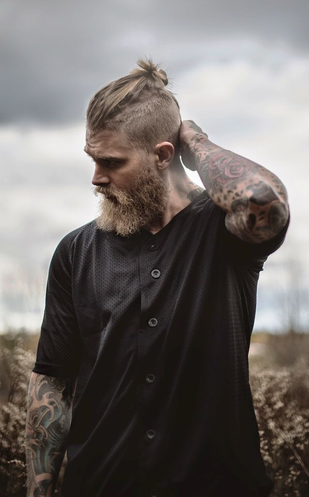 Top knot undercut hairstyle For men                                                                                                                                                     More