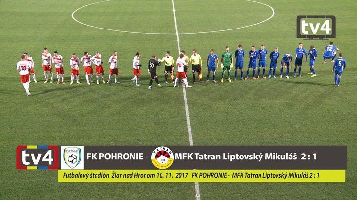 II. liga: FK POHRONIE - MFK Tatran Liptovský Mikuláš 2 : 1