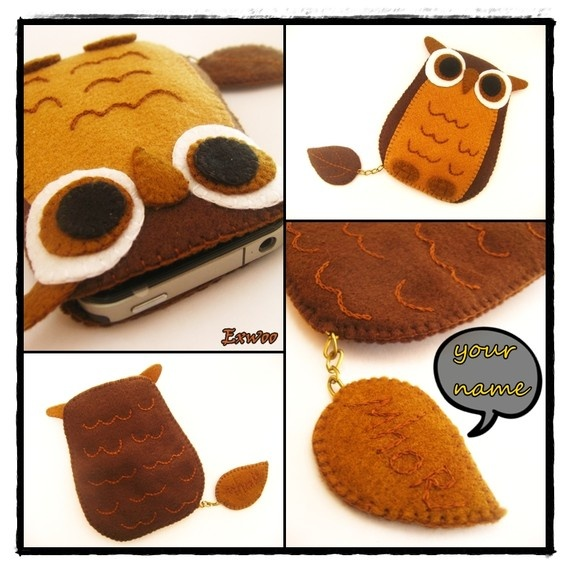 iPhone case  Cute Cute Owl Leave your name on my leaf by exwoo, $19.00