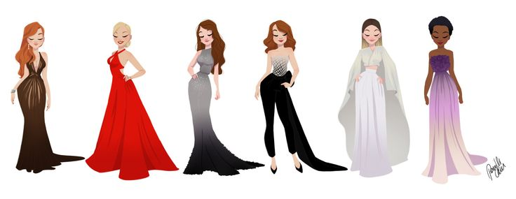 My take on the Golden Globe dresses '15.If you follow this linkand see a video of how they were made.