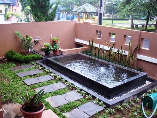 Desain Taman Rumah Kombinasi Kolam Ikan Sederhana Kolam Ikan