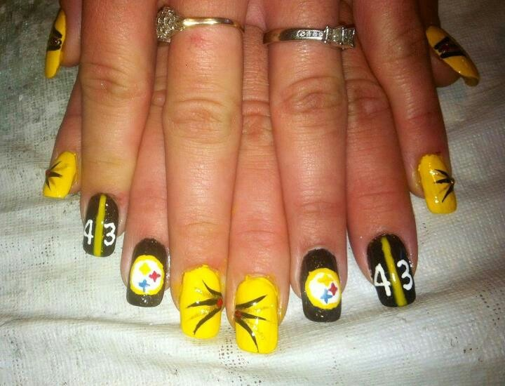 Steeler Nails Steelers In 2018 Pinterest Football And Nail Art