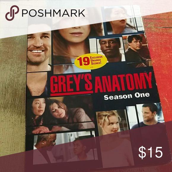 Season 1 Grey's Anatomy DVD Like new condition Grey's Anatomy season 1 DVD Other
