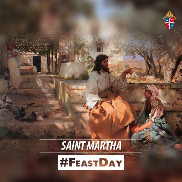 Happy #FeastDay of St. Martha, the patron saint of waiters and waitresses!