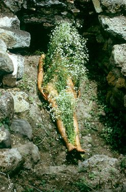 "Ana Mendieta. ""Untitled (Silueta Series, Mexico)"" (1973–77/printed 1991). (via artic.edu)"