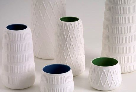 Beautiful Textured Clay vases