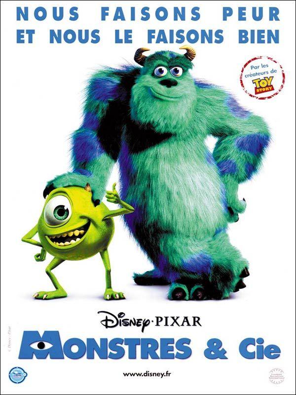 Monstres & Cie est un film de Pete Docter avec John Goodman, Billy Crystal. Synopsis : Monstropolis est une petite ville peuplée de monstres dont la principale source d'énergie provient des cris des enfants. Monstres & Cie est la plu